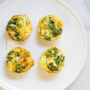 Spinach Goat Cheese Egg Muffins