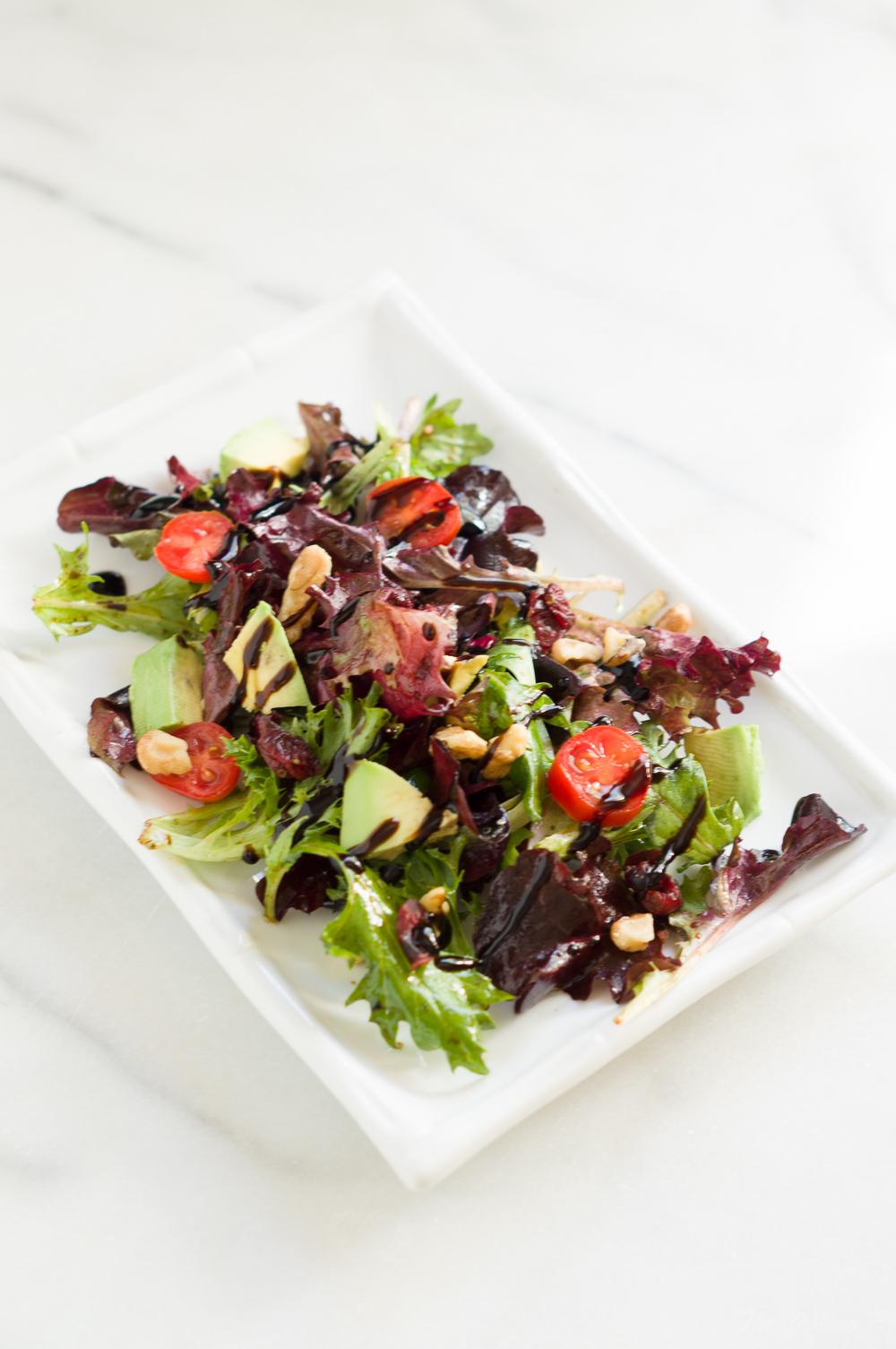 Tomato, Avocado, Walnut Salad