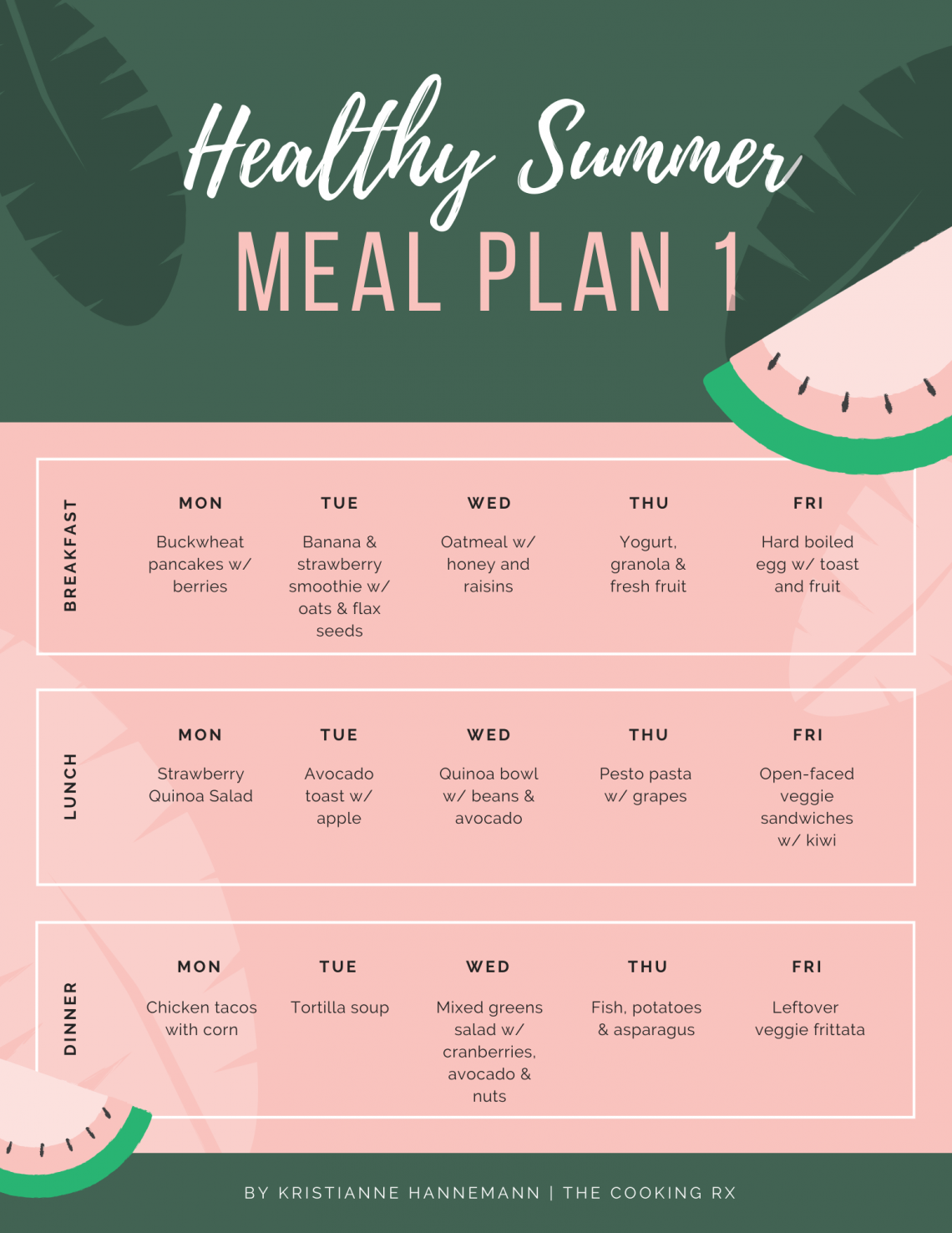 Healthy Summer Meal Plan 1
