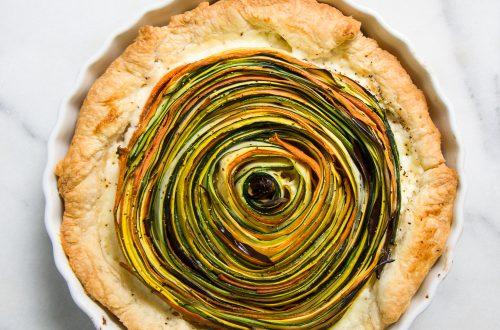 Roasted Vegetable Flower Tart