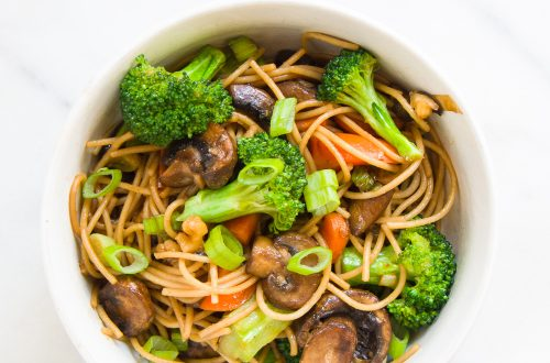 Whole Wheat Noodle Stir Fry